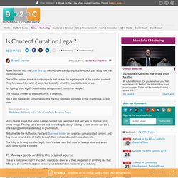 Is Content Curation Legal?