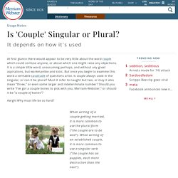 Is 'Couple' Singular or Plural?