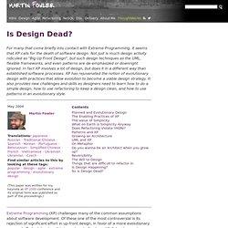 Is Design Dead?