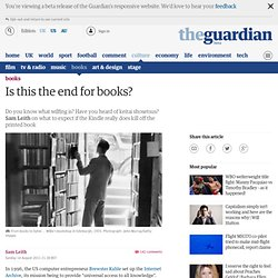 Is this the end for books? | Books