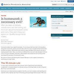 Is homework a necessary evil?