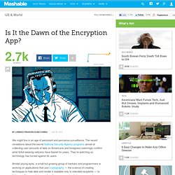 Is It the Dawn of the Encryption App?