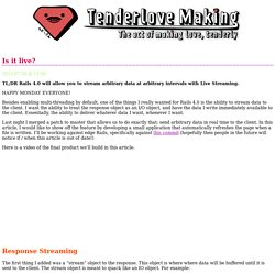 Tenderlovemaking