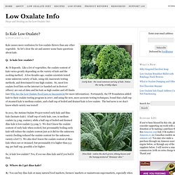 Is Kale Low Oxalate? – Low Oxalate Info