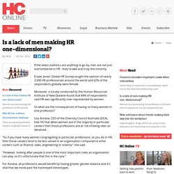 Is a lack of men making HR one-dimensional?