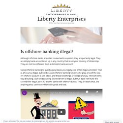Is offshore banking illegal?