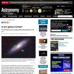 Is our galaxy normal?