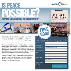Is Peace Possible? FREE BOOK!