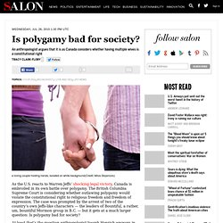 Is polygamy bad for society?