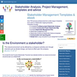 Is the Environment a stakeholder?