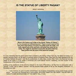 IS THE STATUE OF LIBERTY PAGAN