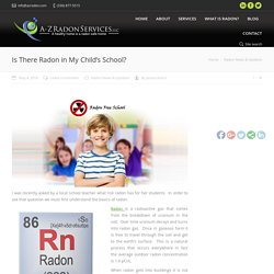 Is There Radon in My Child's School?