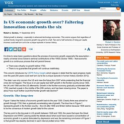 Is US economic growth over?