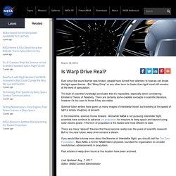 Is Warp Drive Real?