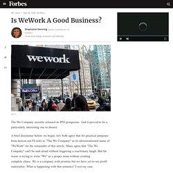 Is WeWork A Good Business? - Sean Michael Malatesta - Medium