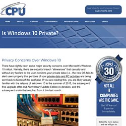 Is Windows 10 Private?