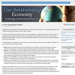 Is your Organization Ready? | The Relationship Economy......