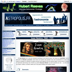 Isaac Newton : biographie