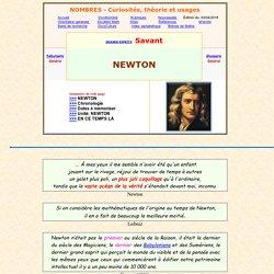ISAAC NEWTON - sa vie - biographie