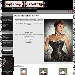 Isabella Corsetry Custom and Ready to Wear Corsets