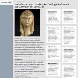 Isabelle Jarry au musée d'Archéologie nationale (St-Germain-en-Laye, (...)