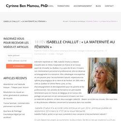 Isabelle Challut : «Rendons la maternité aux femmes !»