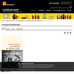 Le silence de Sandy Allen de Isabelle Marrier aux éditions Flammarion