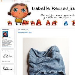 Snood au tricot : tuto.