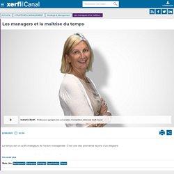 Isabelle Barth, Les managers et la maîtrise du temps