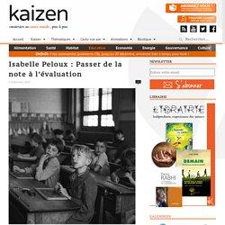 Isabelle Peloux : Passer de la note à l'évaluation