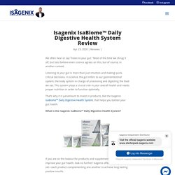 Isagenix IsaBiome™ Daily Digestive Health System Review - Isavantage