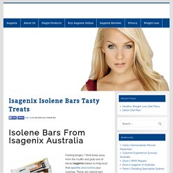 Isagenix Isolene Bars Tasty Treats -