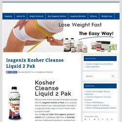Isagenix Kosher Cleanse Liquid 2 Pak -