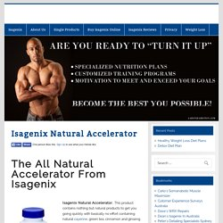 Isagenix Natural Accelerator -