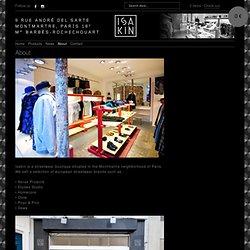 About – Isakin - Paris streetwear boutique