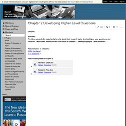 iSearchuSearch - Chapter 2 Developing Higher Level Questions