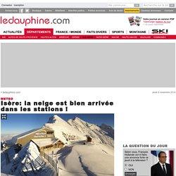 Isère: la neige est bien arrivée dans les stations !