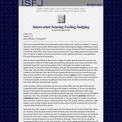 ISFJ Profile