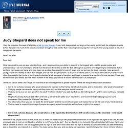 ishai_wallace: Judy Shepard does not speak for me