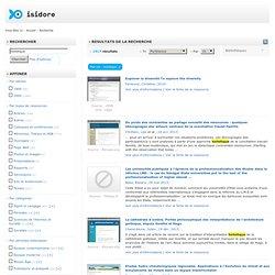 ISIDORE - Accès aux données et services numériques de SHS