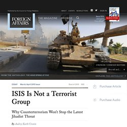 ISIS Is Not a Terrorist Group
