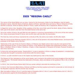 """Isis """"Regina Caeli"""""""