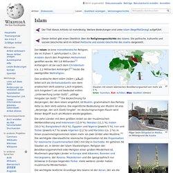 Islam - Richtungen