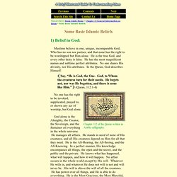Islam Guide: Some Basic Islamic Beliefs