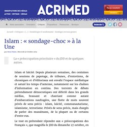 Islam : « sondage-choc » à la Une