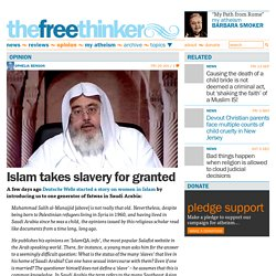 Islam takes slavery for granted