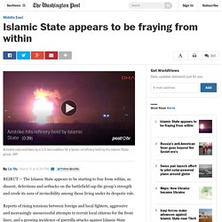 Islamic State appears to be fraying from within