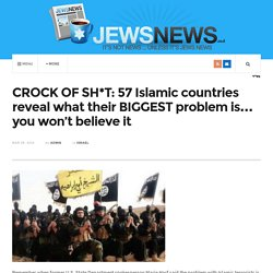 CROCK OF SH*T: 57 Islamic countries reveal what their BIGGEST problem is… you won't believe it