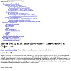Fiscal Policy in Islamic Economics