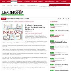 2 Islamic Insurance Firms Begin Operation In Nigeria